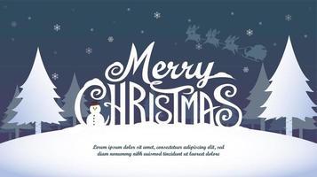 vrolijk kerstfeest banner ontwerp vector