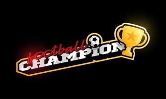 kampioen 2020 voetbal vector logo