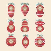 set kerstballen decoraties