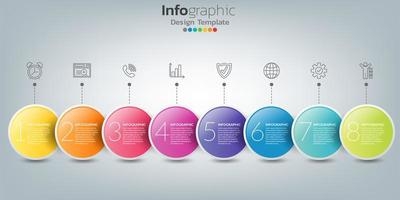 infographic in bedrijfsconcept met 8 opties, stappen of processen.