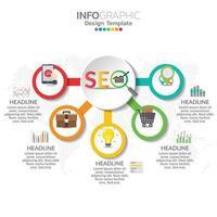 infographic concept illustratie van seo infographics met business layout template.