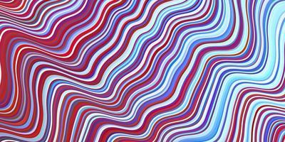 lichtblauwe, rode vectortextuur met wrange lijnen.