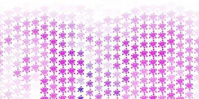 lichtpaars vectorpatroon met coronaviruselementen.