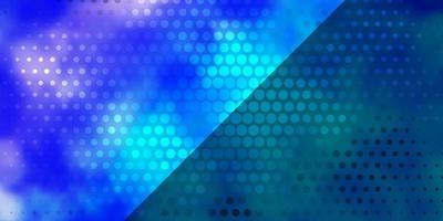 lichtroze, blauw vectorpatroon met cirkels.