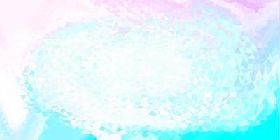 lichtroze, blauwe vector abstracte driehoekstextuur.