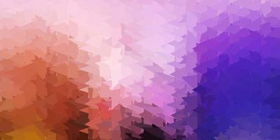 donkerroze, gele vector abstracte driehoeksachtergrond.