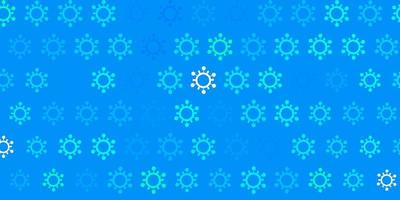 donkerblauw, groen vectorpatroon met coronaviruselementen