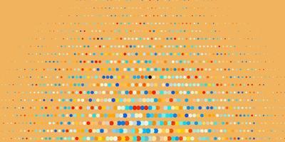 donkerblauwe, gele vectorachtergrond met stippen.