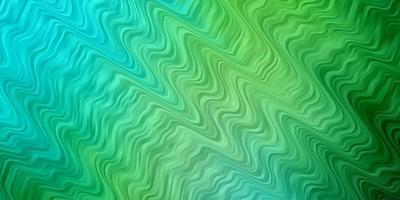 lichtblauwe, groene vectortextuur met curven. vector