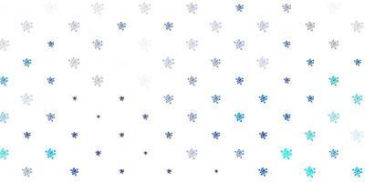 lichtblauwe, groene vectorachtergrond met virussymbolen