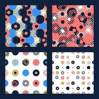 abstracte achtergrond naadloze vector patroon