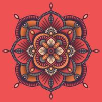 kleurrijke sier bloemen etnische mandala vector