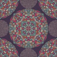 naadloze patroon met decoratieve bloemen etnische mandala's vector