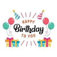 ik wens je een gelukkige verjaardag vector