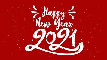 gelukkig typografisch nieuwjaar 2021. illustratie met belettering samenstelling en burst.