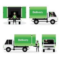 man met bestelwagen