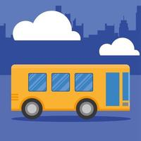 busvoertuig in het stads vectorontwerp