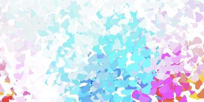 licht veelkleurige vector sjabloon met abstracte vormen.