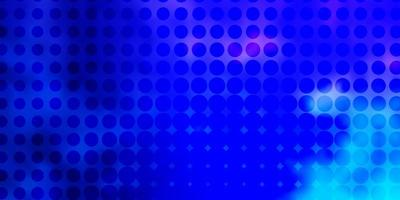 lichtroze, blauw vectorpatroon met bollen.