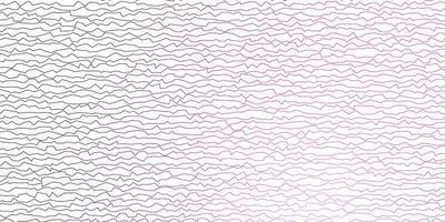 donkerpaarse, roze vectorachtergrond met gebogen lijnen.