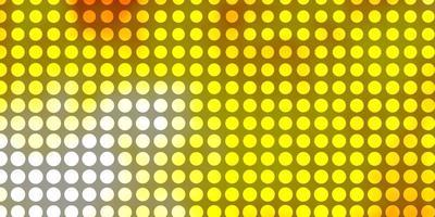 lichtoranje vector sjabloon met cirkels.
