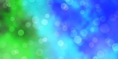 lichtblauw, groen vectorpatroon met bollen.