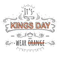 koningen dag typografie vector