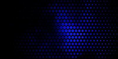 donkerblauwe vector achtergrond met cirkels.