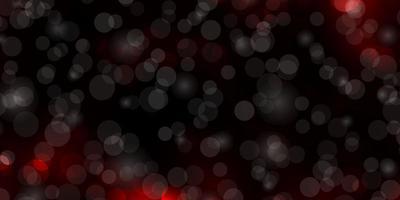 donkerrode vector achtergrond met cirkels.