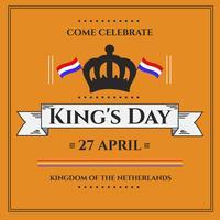 koningen dag festival poster vector