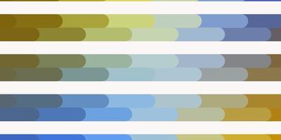 lichtblauw, geel vectorpatroon met lijnen.