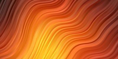 donkeroranje vectorpatroon met krommen.