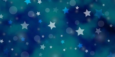 lichtblauw vector sjabloon met cirkels, sterren.