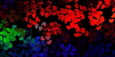 donker veelkleurig vectorpatroon met abstracte vormen.