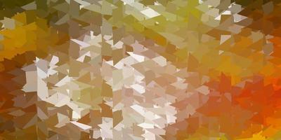 donkergroene, gele vector abstracte driehoeksachtergrond.
