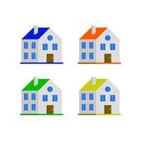 isometrisch huis geïllustreerd op witte achtergrond vector