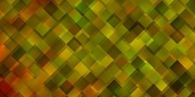 lichtgeel vectorpatroon in vierkante stijl.