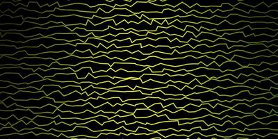 donkergroene vector achtergrond met gebogen lijnen.