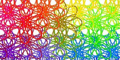 licht veelkleurige vector sjabloon met gebogen lijnen.