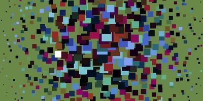 licht veelkleurig vectorpatroon in vierkante stijl.