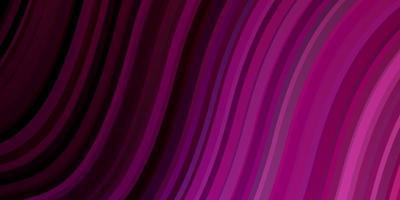 donkerpaarse, roze vectorachtergrond met wrange lijnen.