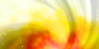 lichtoranje vectorpatroon met abstracte sterren.