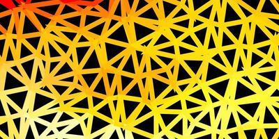 licht oranje vector driehoek mozaïek behang.