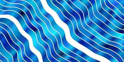 lichtblauwe vectorachtergrond met wrange lijnen. vector