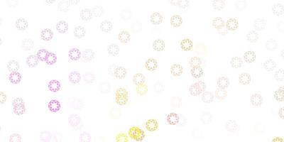 lichtroze, gele vectorachtergrond met vlekken