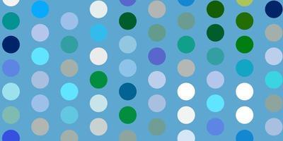 lichtblauwe, groene vectorachtergrond met bellen.