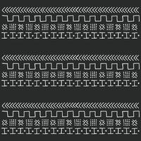 zwart en wit stammen etnisch patroon met geometrische elementen vector