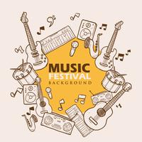 Muziekfestival Achtergrond vector