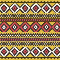 stammen etnisch kleurrijk Boheems patroon met geometrische elementen, Afrikaanse modderdoek vector