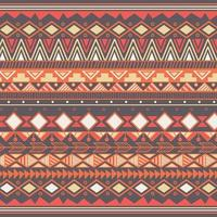 Azteeks stammenpatroon in strepen vector